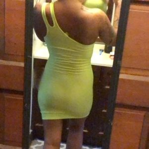 Neon H&M divided dress
